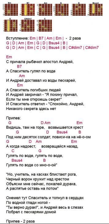 Текст и аккорды к песне одиночка